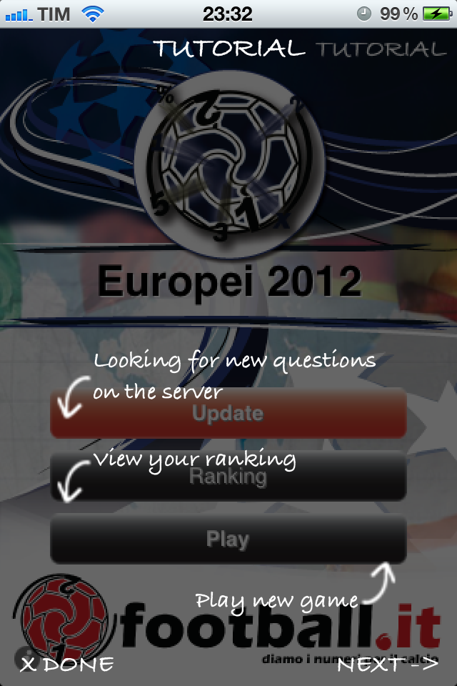 Screenshot iFootball Europei lite